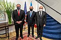 Secretary Pompeo Delivers Joint Remarks With Israeli Prime Minister Netanyahu and Bahraini Foreign Minister Al-Zayani (50618630562).jpg