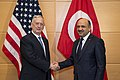 Secretary of Defense James Mattis meets with Turkish Minister of National Defense Fikri Isik at the NATO Headquarters in Brussels, Belgium, February 15, 2017 (32797443121).jpg