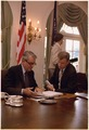Secretary of State Cyrus Vance and National Security Council Advisor Zbigniew Brzezinski. - NARA - 175514.tif