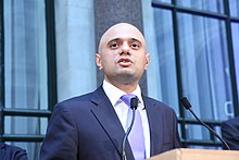 Secretary of State for Culture, Media and Sport Sajid Javid.jpg