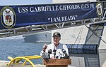 Secretary of the Navy delivers remarks during a press conference. (36083381354).jpg