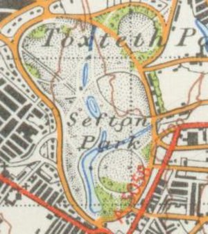Sefton Park - A map of the park from 1947