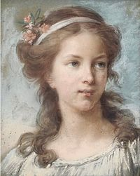 Self-portrait at age sixteen by Elisabeth Vigée Le Brun. pastel.jpg