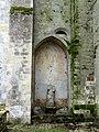 Senlis (60), abbatiale Saint-Vincent, clocher, arcade bouchée vers le bas-côté nord.JPG