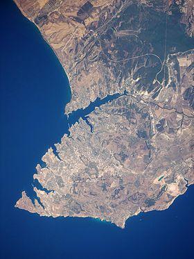 Спутниковый снимок полуострова