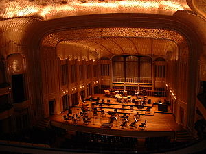 Severance Hall - The new Severance Hall stage prior to a Cleveland Orchestra concert