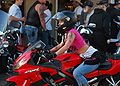She and her Honda at Bike Week 2009 Daytona.jpg