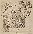 Sheet with Two Figural Compositions and Studies of Helmets and Arms MET DP834075.jpg