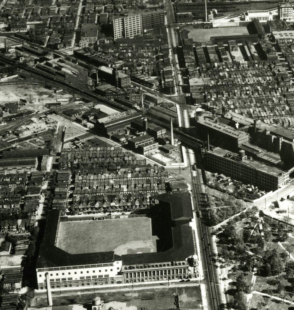 File Shibe Park And Baker Bowl Aerial September 1929 Jpg