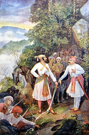 Battle of Pavan Khind - Shivaji and Baji Prabhu at Pawan Khind
