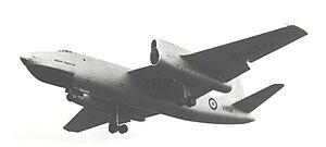 Short Sperrin - Short Sperrin Gyron test bed (lower port engine) at Farnborough September 1955