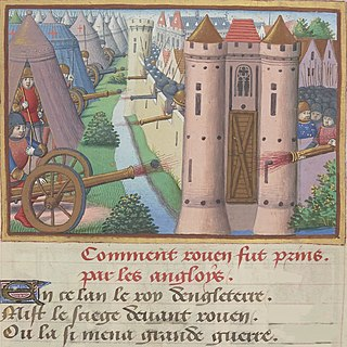 15th-century siege or Rouen, France