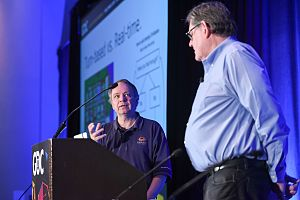 Civilization (video game) - Sid Meier (left) and Bruce Shelley at the 2017 Game Developers Conference