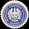 Siegelmarke Königliche Eisenbahn - Direktion - Stettin W0212709.jpg