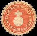 Siegelmarke Königreich Preussen Gemeinde Soden am Taunus W0313176.jpg