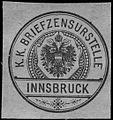 Siegelmarke K.K. Briefzensurstelle - Innsbruck W0261361.jpg