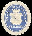 Siegelmarke Stadt - Magistrat Weilheim W0235905.jpg