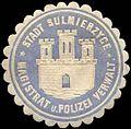 Siegelmarke Stadt Sulmierzyce - Magistrat und Polizei Verwaltung W0260281.jpg