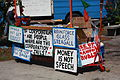 Signs at the Occupy Tampa encampment.jpg
