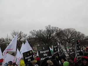 Silent No More - Silent No More marchers at the 2013 March for Life (Washington, D.C.)