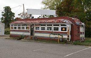 Silk City Diners - Tom's Diner, circa 1930, was built in Paterson, NJ by the Silk City Dining Car Company