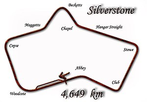 1950 British Grand Prix - Silverstone Circuit in 1949–1950 configuration