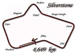 1950 British Grand Prix - Silverstone Circuit in 1950–1951 configuration