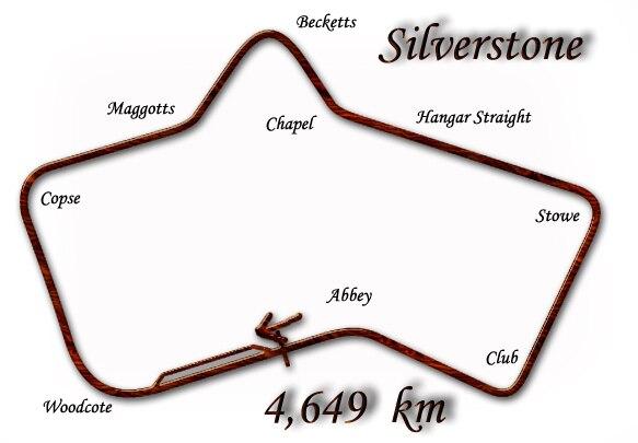 Silverstone Circuit in 1950–1951 configuration