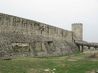 Singidunum - Remains of the Roman castrum in the older layers of the modern Belgrade Fortress