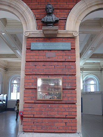Morton Peto - The bust of Peto in Norwich Station (2010)
