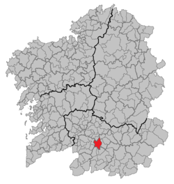 Situation of Allariz within Galicia