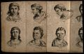 Six faces expressing the passions; (clockwise from top left) Wellcome V0009457.jpg