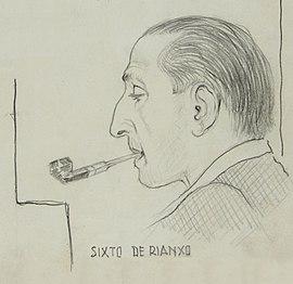 Sixto de Rianxo por Camilo Díaz Baliño
