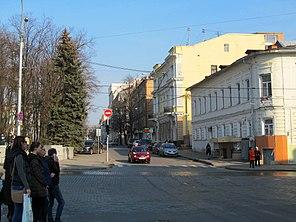 Початок вулиці Скрипника. Вигляд з протилежного боку Сумської вулиці e7c59adab5f34