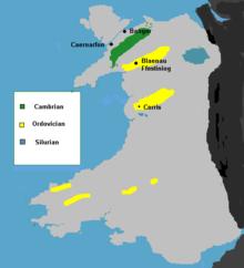 Important slate deposits in Wales