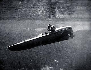 Motorised Submersible Canoe WWII British frogman delivery vehicle