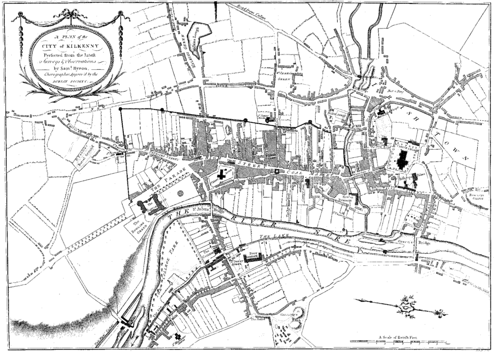 Small Kilkenny city map circa 1780 (2006-06-17)