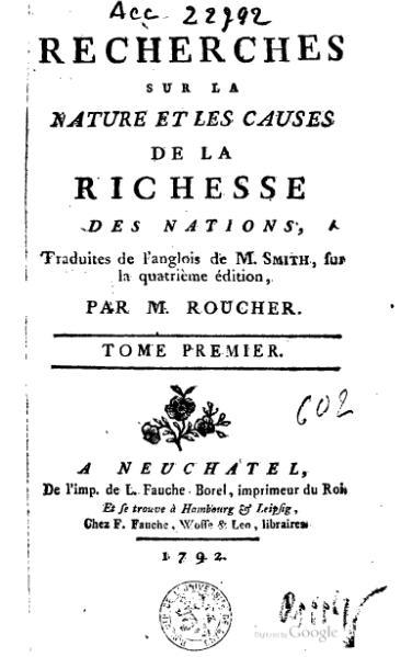File:Smith - Recherches sur la nature et les causes de la richesse des nations, Roucher, 1792, I.djvu