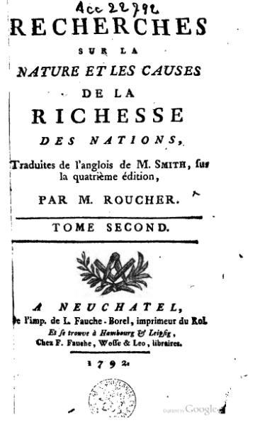File:Smith - Recherches sur la nature et les causes de la richesse des nations, Roucher, 1792, II.djvu