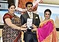 Smriti Irani presenting the Rajat Kamal Award to Divya Dutta (Best Supporting Actress) for the Hindi film - IRADA, at the 65th National Film Awards Function, in New Delhi.JPG