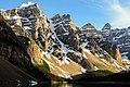 Snow covered mountain peaks in Moraine Lake (Unsplash).jpg