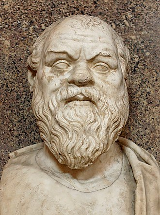 Lie - Socrates (depicted in this bust) justified the use of noble lies in Plato's Republic.