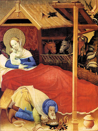 Christmas Oratorio - Conrad von Soest: Birth of Christ (1404)