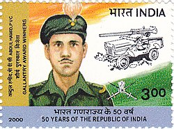 Hamid on a 2000 stamp of India
