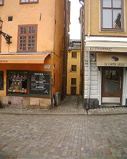 Solgränd alley in Gamla stan, Stockholm, Sweden