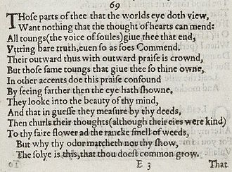 several of shakespeares sonnets are written about