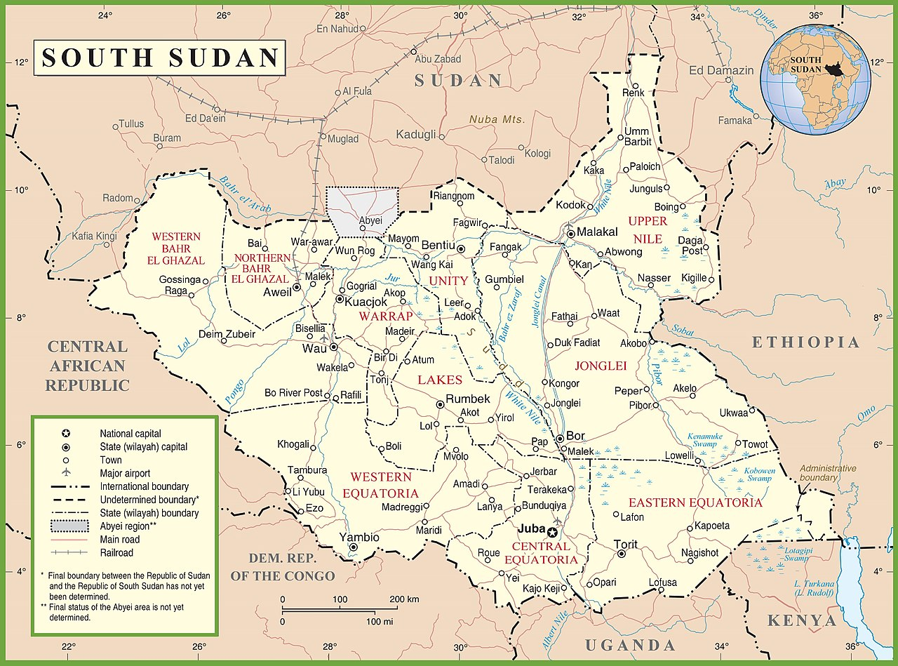 Political Map Of Sudan.File South Sudan Political Map Jpg Wikimedia Commons