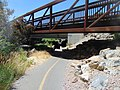 South at footbridge and SR-265 over Provo River Parkway, Provo, Utah, Jul 16.jpg