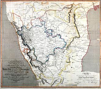 Colin Mackenzie - Mackenzie's map of southern India (1808)