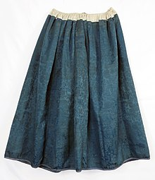 01928fcc0ed309 A full skirt of blue damask (back). Ethnographic region: Żywiec. Collection  of The State Ethnographic Museum in Warsaw.